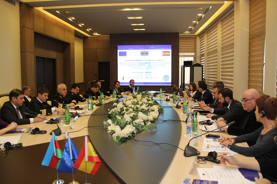 "Kick-off meeting of the twinning project ""Support to the State Maritime Administration to Improve Liability in Maritime Transport in the Republic Of Azerbaijan"" has been held"