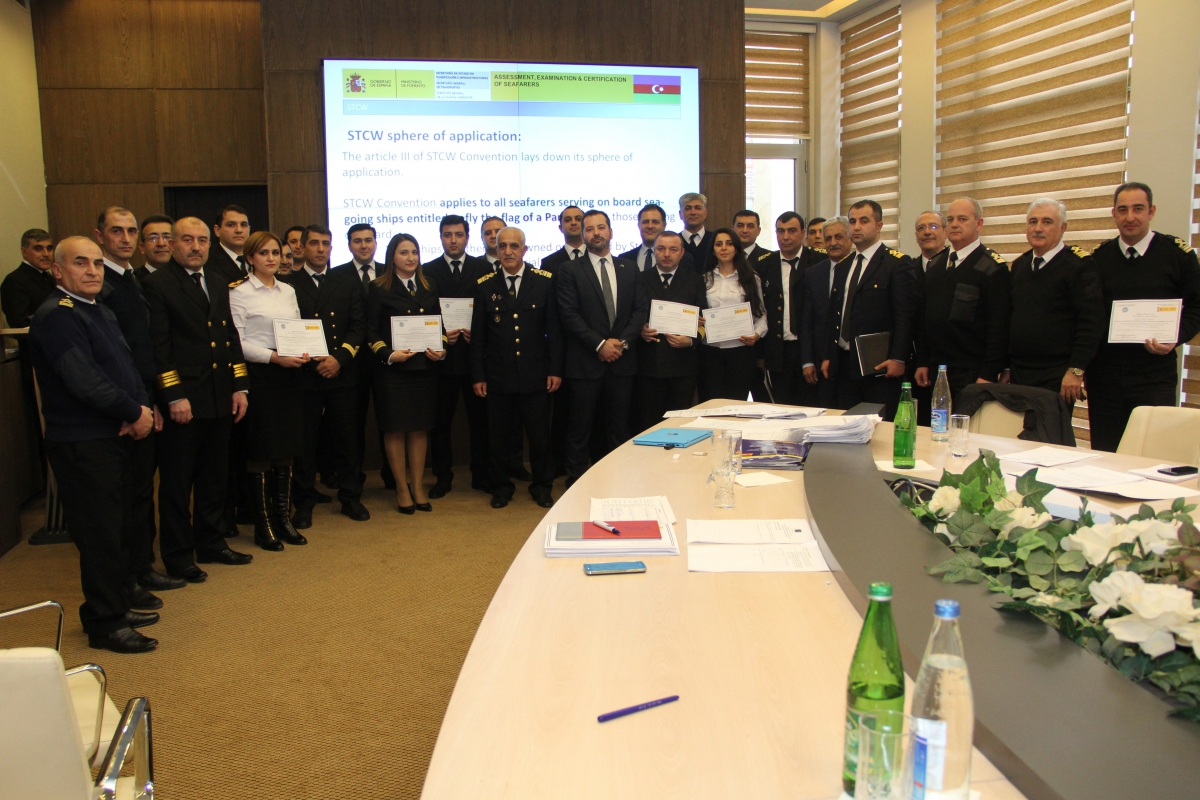 "The Training Course held within the Twinning Project ""Support to the State Maritime Administration to Improve Liability in Maritime Transport in the Republic of Azerbaijan"" has been completed (Photo)"