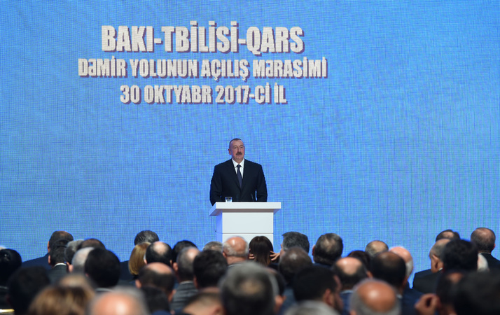 Opening ceremony of Baku-Tbilisi-Kars railway gets underway