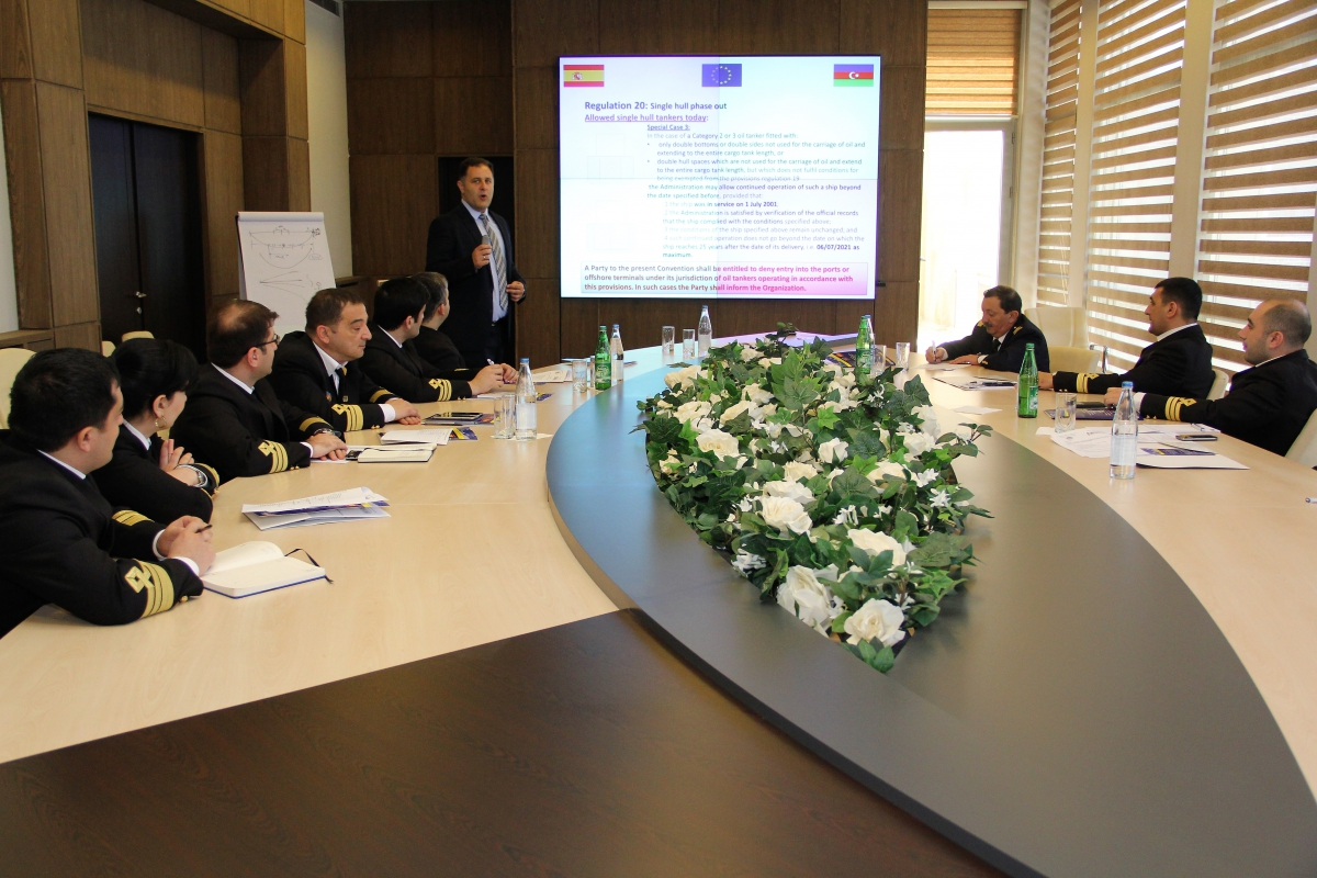 "In the State Maritime Administration was held the Training Course on ""Implementation of MARPOL Convention"""